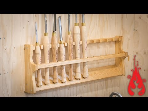Woodshop projects - Making a turning tool rack