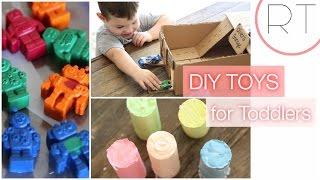 DIY Kids Toys ( Robot Crayons, Car Garage, Chalk)