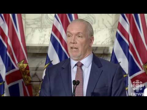 BC Premier John Horgan announces controversial Site C hydroelectric dam will go ahead