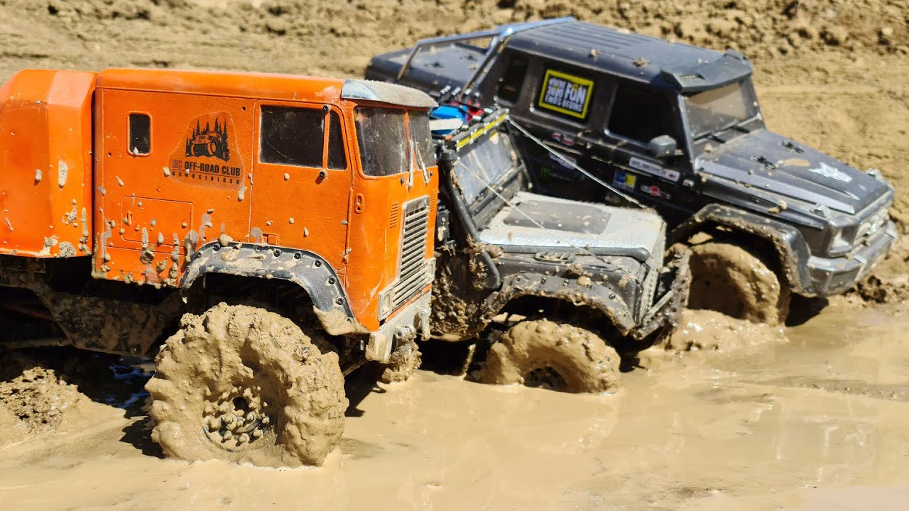 RC CARS MUD Adventures – Mercedes 6x6 Traxxas TRX6, Globe Liner, Land Rover  — Wilimovich
