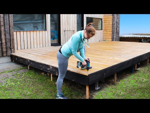 ⚫How to Make a SIMPLE TERRACE to the House of Pine Boards.