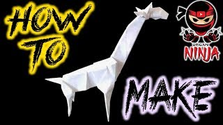 How To Make: Origami Giraffe