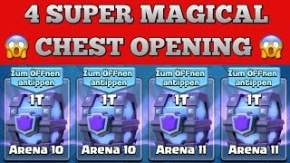 BIGGEST F2P CHEST OPENING EVER! | 4 SUPER MAGICAL CHESTS! | CLASH ROYALE DEUTSCH | TOBIAS SPIRITHAWK