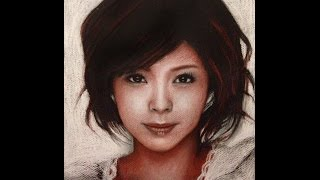 Drawing of one of my favourite J-Pop artists, Aya Matsuura (松浦 亜...