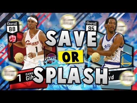 NBA 2K17 MyTEAM SAVE OR SPLASH THE MT!! | Diamond Sleepy Floyd vs. Ruby Daniel Gibson