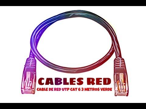 Video de Cable de red UTP CAT6 3 M Verde