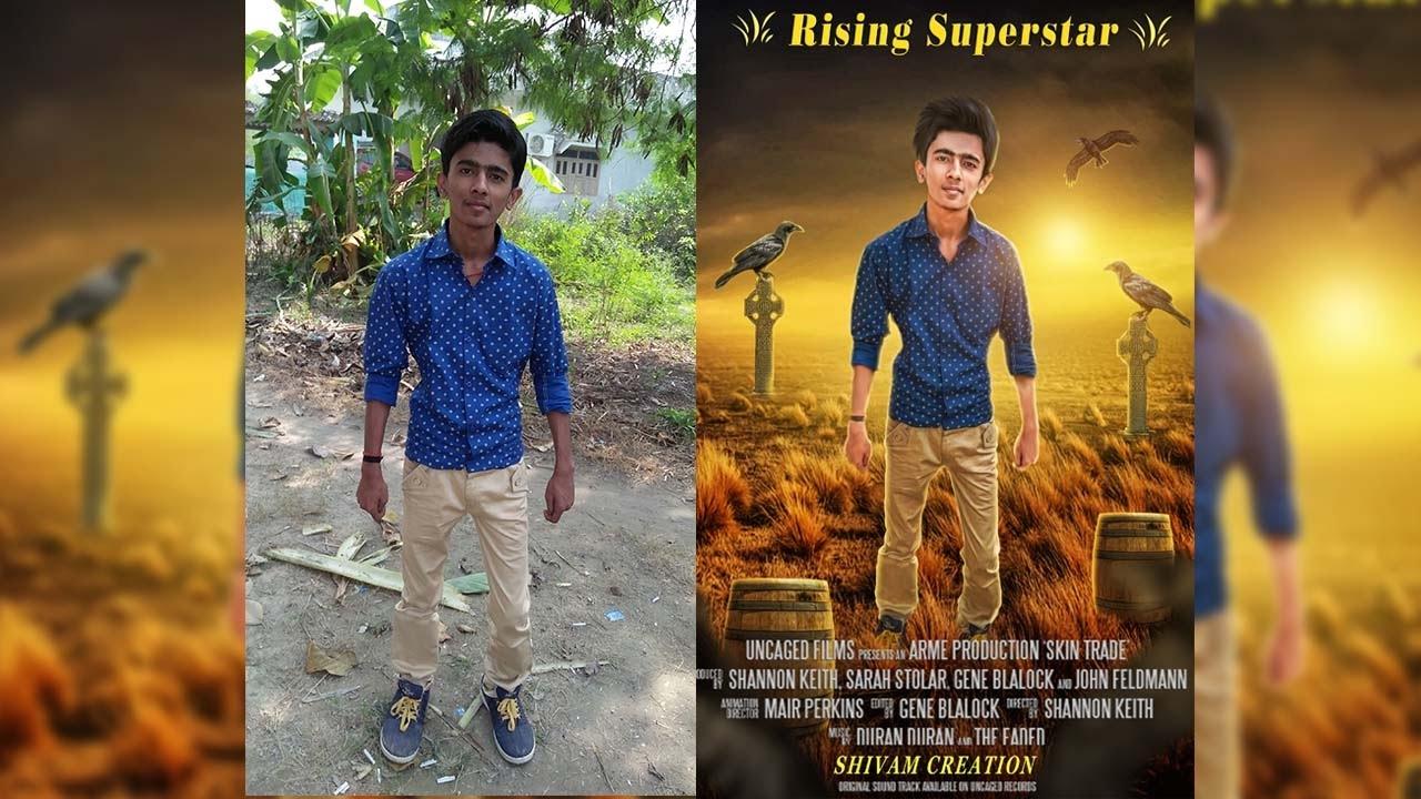 Movie poster design in photoshop tutorial by shivam raj