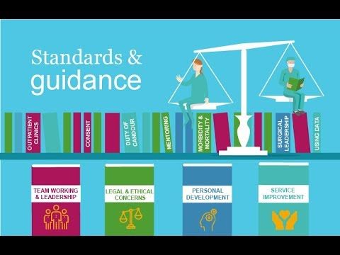 Standards and guidance at the Royal College of Surgeons