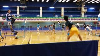 學界羽毛球精英賽round1 蔡功譜vs瑪利諾神父