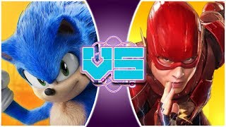 MOVIE SONIC Vs MOVIE FLASH! (Sonic The Hedgehog Vs The Flash DCEU) | REWIND RUMBLE
