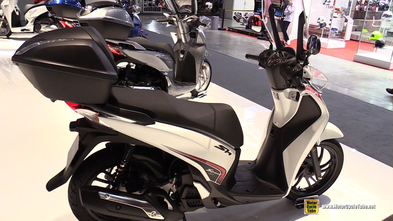 2016 Honda SH150i ABS Scooter - Walkaround - 2015 EICMA Milan - YouTube