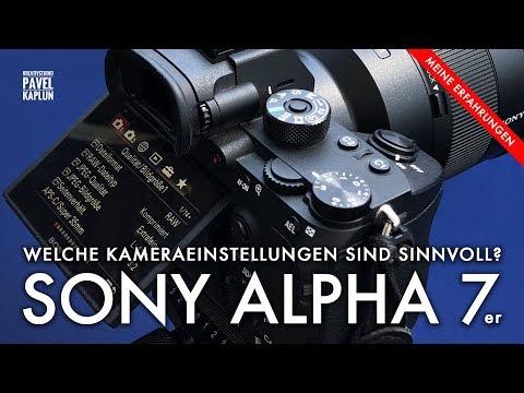 Kameraeinstellungen: Sony Alpha 7R III