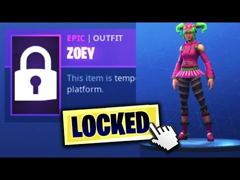 Why ZOEY Skin Is LOCKED! (ZOEY Skin DISABLED)