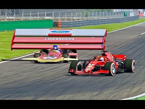 Ferrari F1 2018 vs Lotus F1 1971 Monster - Monza