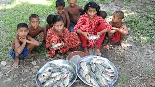 Fishing & Cooking - Fish Curry Prepared By 4-10 Years Children - Village Kids Picnic