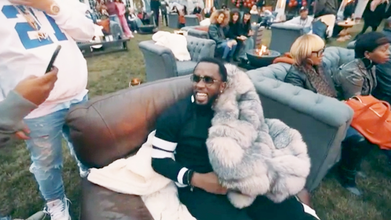 Diddy's SUPERBOWL Party Was LIT Celebrating the Game!