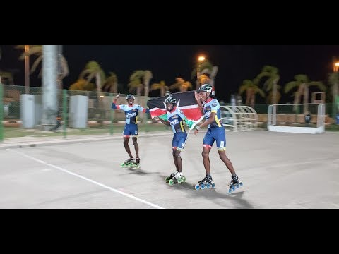 KENYA ROLLER SKATING Team Shines In Egypt CAIRO Wth 17 GOLD MEDALS