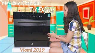 Máy Rửa Chén Bát Tự Động Viomi 2019 - Công Suất 1800W - Tiết Kiệm Nước 7.5L - Sấy Khô - Tiệt Trùng