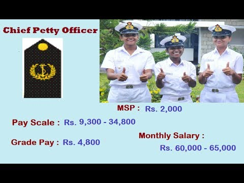 Indian Navy Ranks & Monthly Salary ( Ground Entry ) 2017