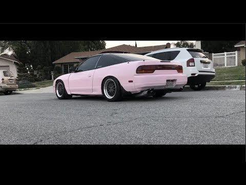 I SPRAY PAINTED MY 240SX PINK!!! (S13 Paint Ep.2)