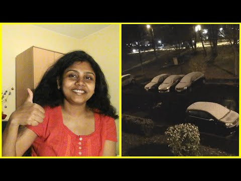 First snowfall in Germany 2020 # grocery shopping in germany # Indian youtuber in Germany