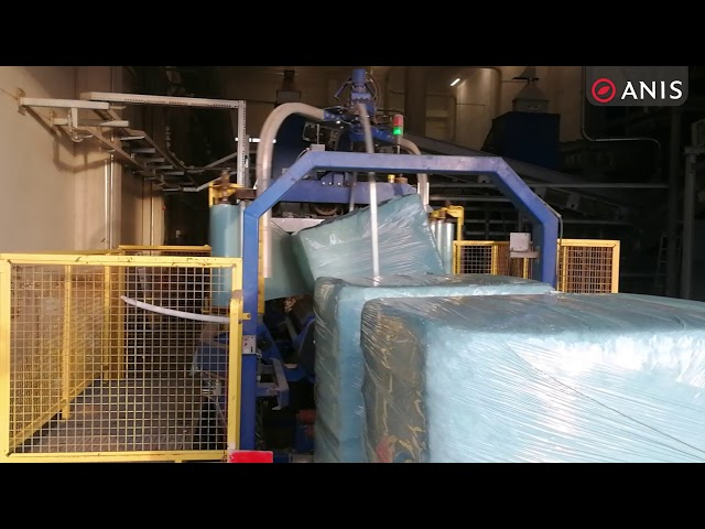 RDF waste baler ANIS: baling and wrapping of RDF/SRF waste – Kastijun plant, Croatia