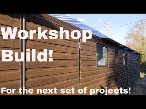 Metal garden workshop/shed build