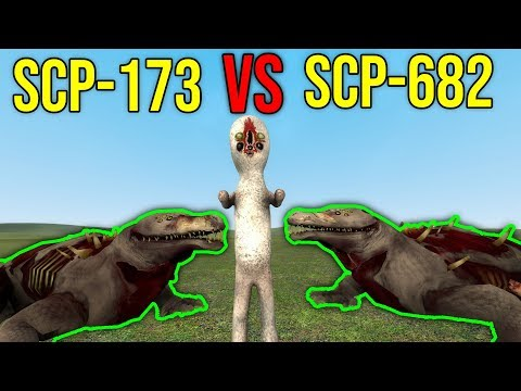 SCP-173 VS SCP-682! (gmod scp)