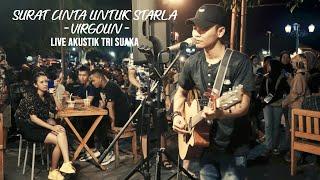 Download lagu SURAT CINTA UNTUK STARLA - VIRGOUN (LIRIK) LIVE AKUSTIK COVER BY TRI SUAKA - PENDOPO LAWAS
