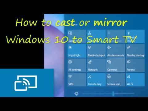 Tv Pc Kast.How To Cast Or Screen Mirror Windows 10 To A Smart Tv Youtube