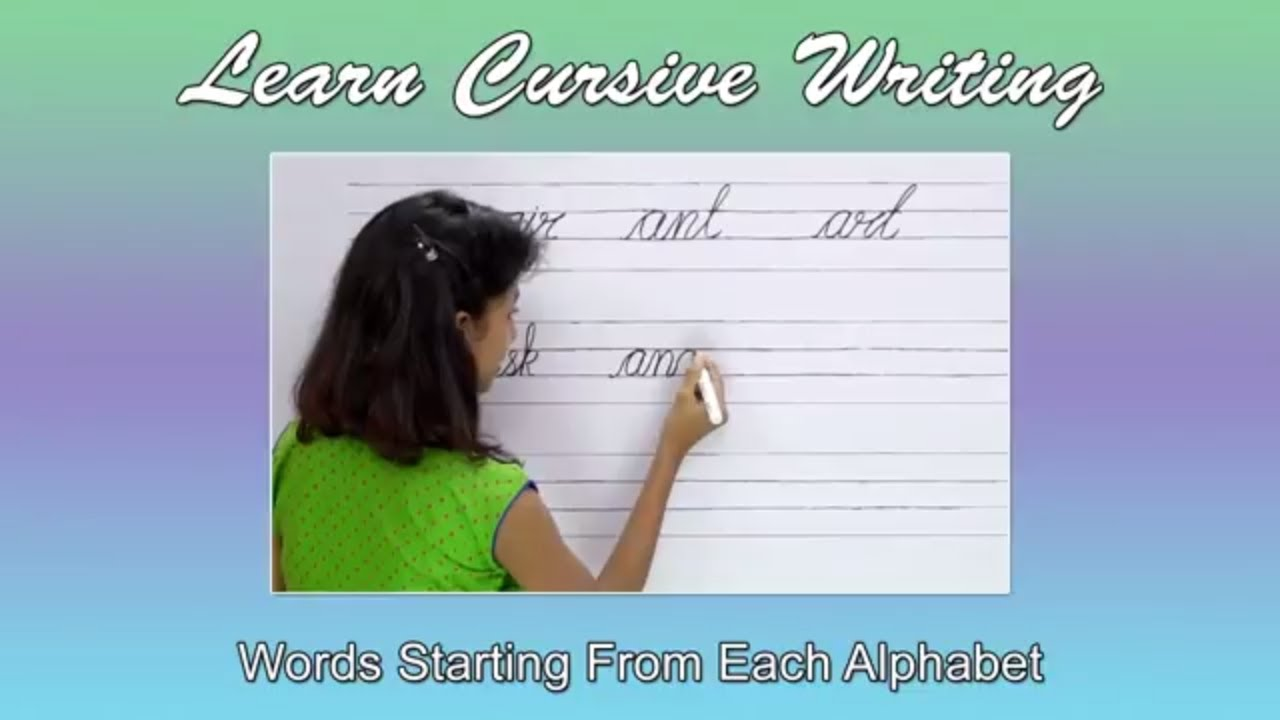 Words Starting From Each English Alphabet Alphabets Words For