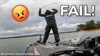 BIGGEST FAIL of the YEAR!  - Road to the Classic Ep.23 Bassmaster Cherokee Lake