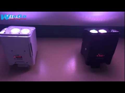 master slave mode / RGBAW-UV LED battery wireless uplight