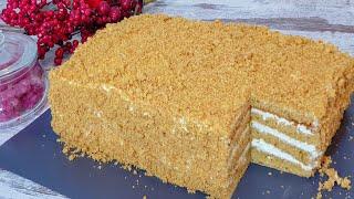 Торт за пол часа Все просят Этот рецепт Медового торта Самый Вкусный Торт Медовик