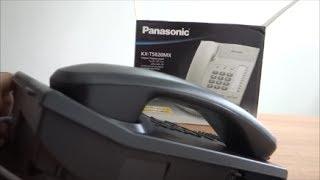 Panasonic Corded Phone KX TS820MX Landline - unboxing