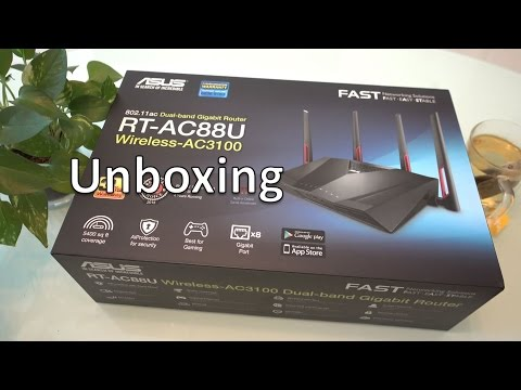 Asus RT-AC88U Unboxing
