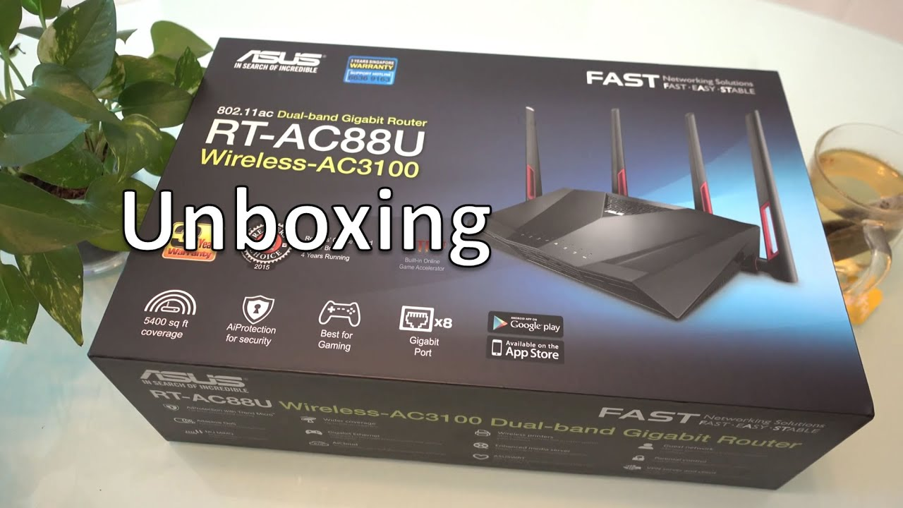 Asus RT-AC88U Unboxing - YouTube