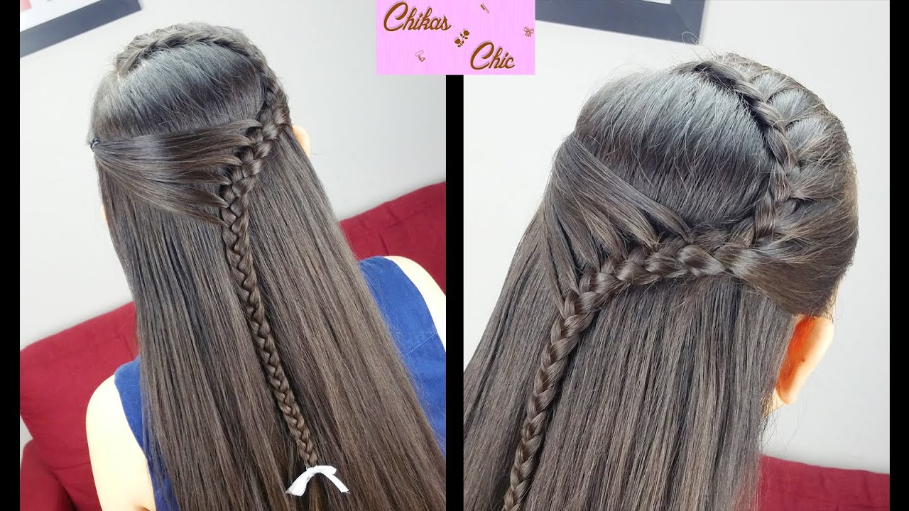 diadema sostenida pull back headband peinados faciles y rapidos trenza diadema youtube - Peinados De Trenzas Faciles