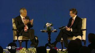Singaporean Prime Minister Lee Speaks at New Economy Forum