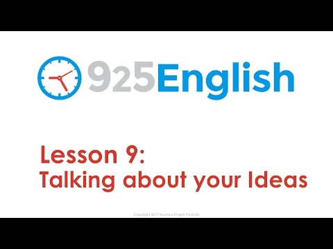 925 English Lesson 9 - How to Talk about your Ideas in English   Business English Conversation