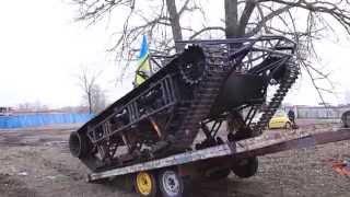 Випробування легкого гусеничного шасі від київських розробників