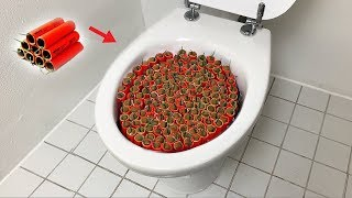 1000 Firecrackers vs Toilet