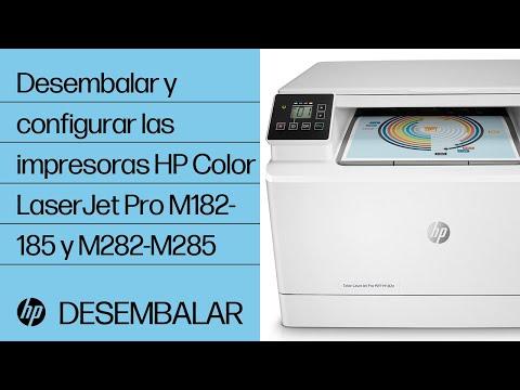 Desembalar y configurar las impresoras HP Color LaserJet Pro M182-185 y M282-M285 | HP LaserJet | HP