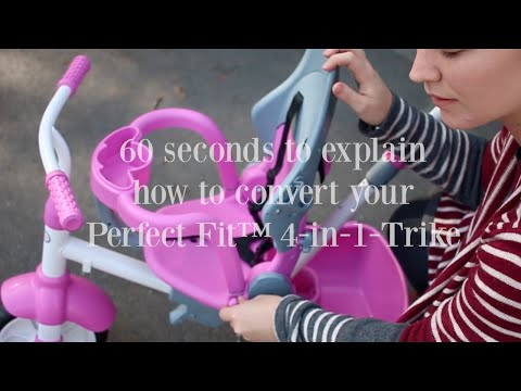 Convert The Perfect Fit™ 4-in-1-Trike To Grow With A Child