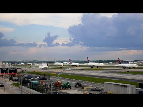Atlanta Airport Plane Spotting Ep. 7 Pt. 3 of 4 - Long Takeoff Lineup, 767s, Maddogs and More!