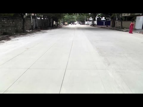 Concrete white Topping Road in Hyderabad - hybiz