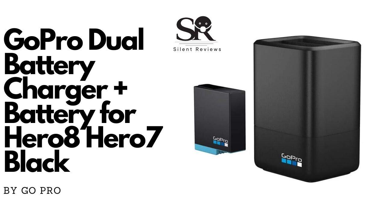 - Official Accessory Battery Hero8 Black// Hero7 Black// Hero6 Black GoPro Dual Battery Charger