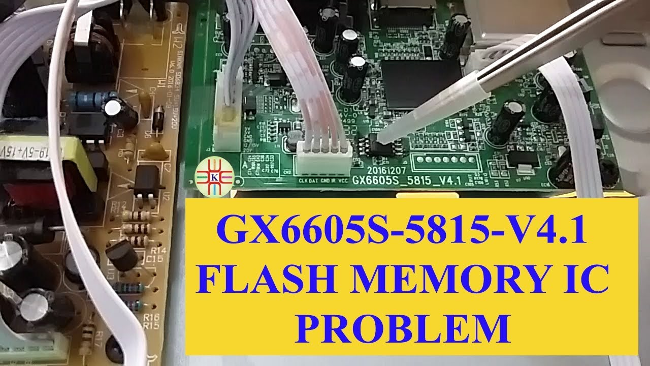 How to Resolve Display Issue of GX6605S-5815-V4 1 Receiver by Replacing of  Flash Memory IC in Urdu