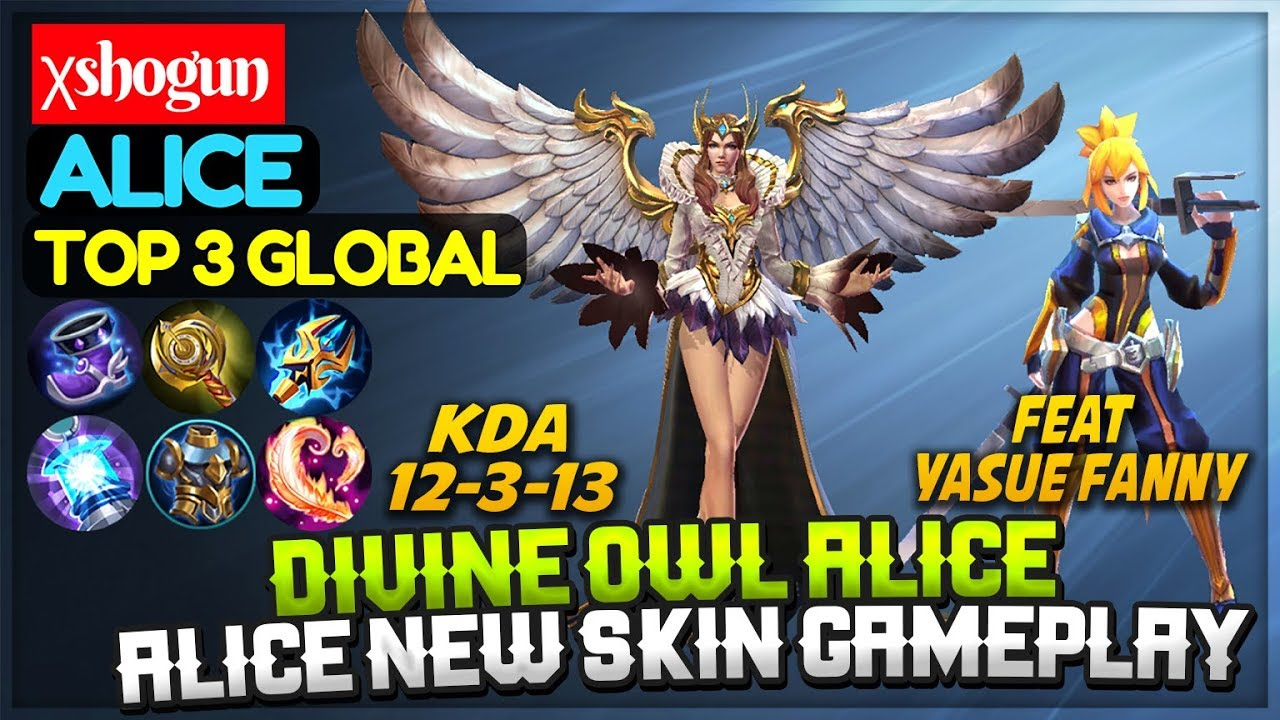 Divine Owl Alice New Skin, Feat Yasue Fanny [ Top 3 Global Alice