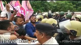 BIG BREAKING: जोगी कांग्रेस ने किया मुख्यमंत्री निवास का घेराव, देखिये वीडियो